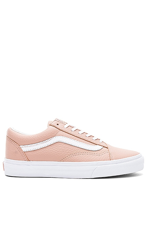 Vans Tumble Leather Old Skool DX Sneaker in Tan