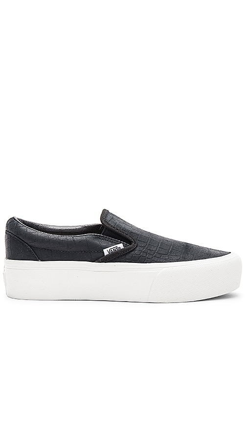 Vans Embossed Classic Slip-On Platform in Black