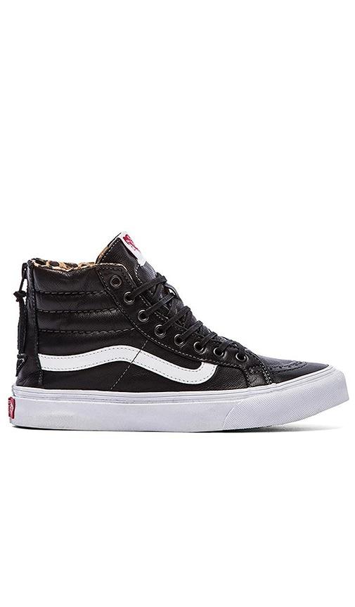 a9463be883ccc4 Vans SK8-Hi Slim Zip Sneaker in Black   Leopard