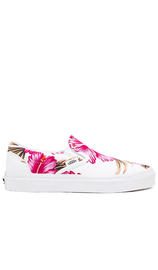 Classic Hawaiian Floral Slip On Sneaker