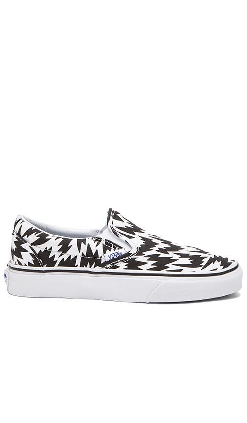 896681ea8b Vans Classic Slip On Eley Kishimoto Sneaker in Flash   White   Black ...