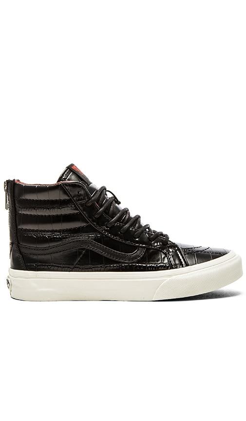 SK8 Hi Slim Zip Croc Leather Sneaker