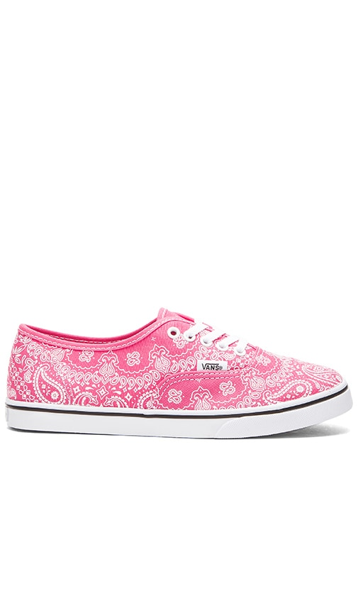 Vans Authentic Lo Pro Bandana Sneaker in Pink   True White  93c62f63f0