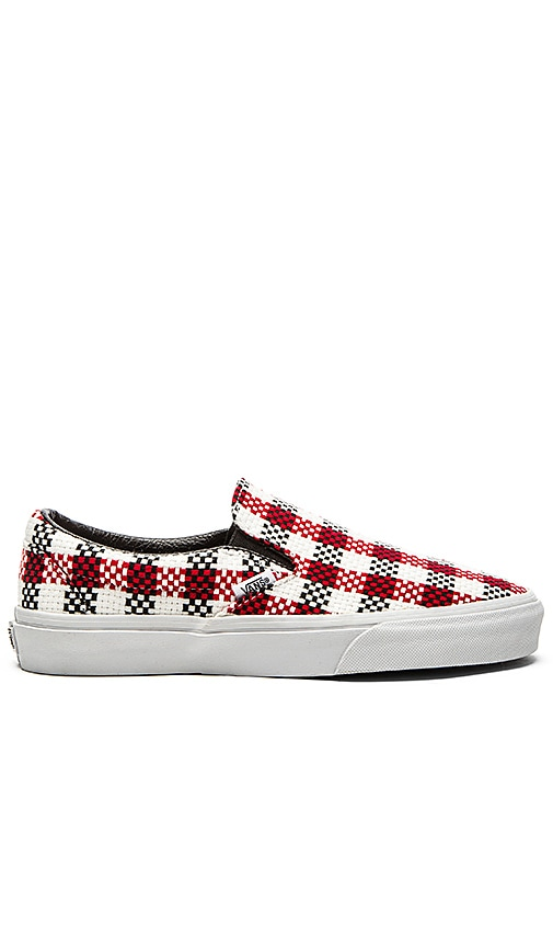 Classic Slip On Checker Plaid Sneaker. Vans