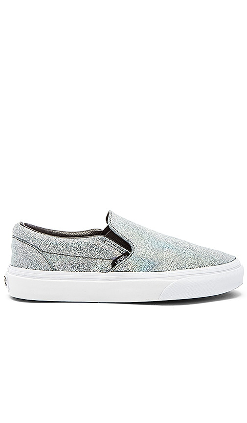 cc082f9f5d Vans Classic Slip On Matte Iridescent Sneaker in Silver