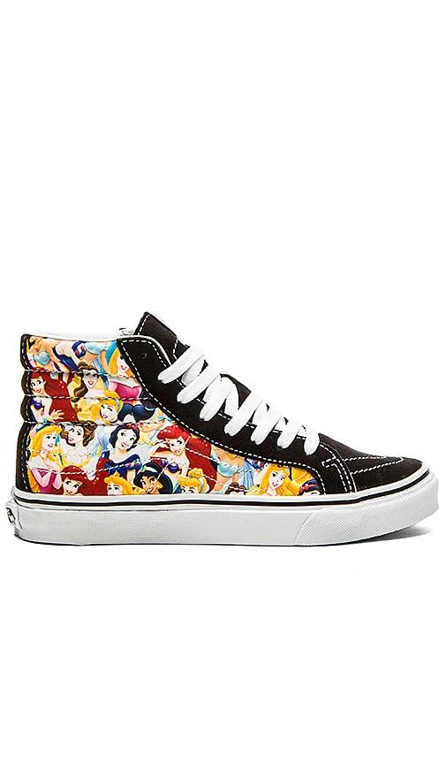 65f2bcbb00a2 Vans Sk8 Hi Slim Disney Sneaker in Multi Princess