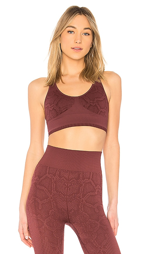 Varley Perkins Sports Bra in Burgundy