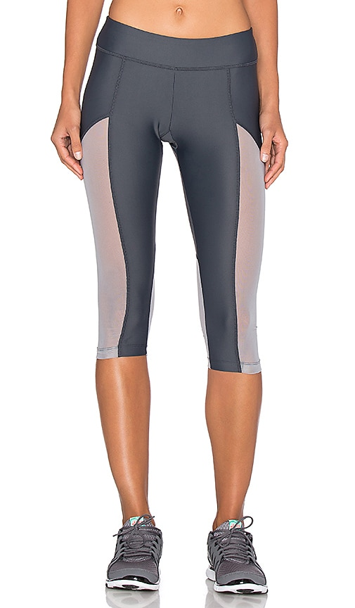Varley Vincent Tight Crop Legging in Gray