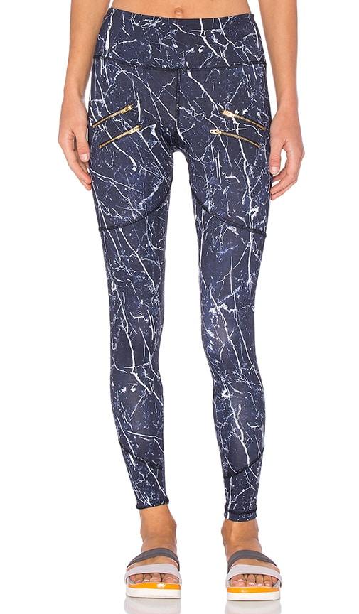 Varley Palms Legging in Navy Marble