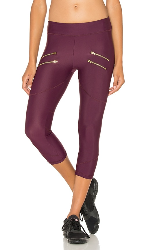 Varley x REVOLVE Crop Legging in Burgundy