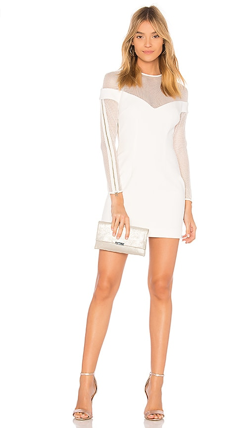 VATANIKA Mesh Mini Dress in White
