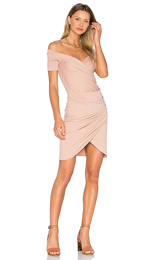 VATANIKA Draped Dress in Blush