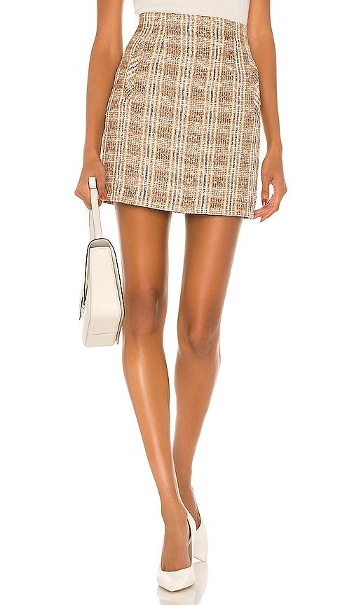 Veronica Beard Roman Skirt in Brown Multi | REVOLVE
