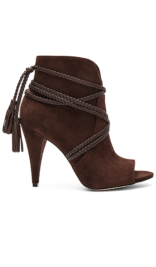 Vince Camuto Astan Booties in Chocolate Brown