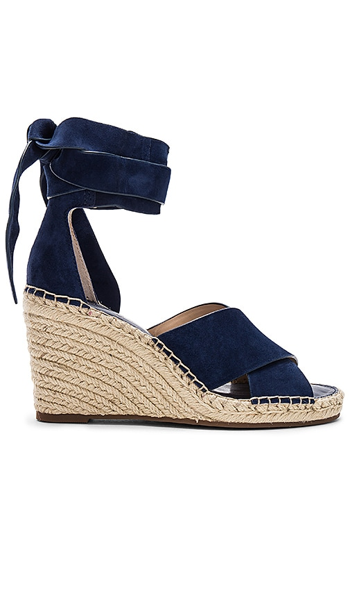 9a80ee35f14 Vince Camuto Leddy Wedge in Midnight Suede | REVOLVE