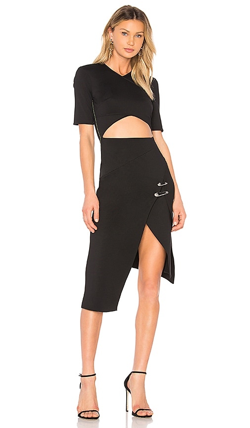 Versus by Versace Cut Out Dress in Black