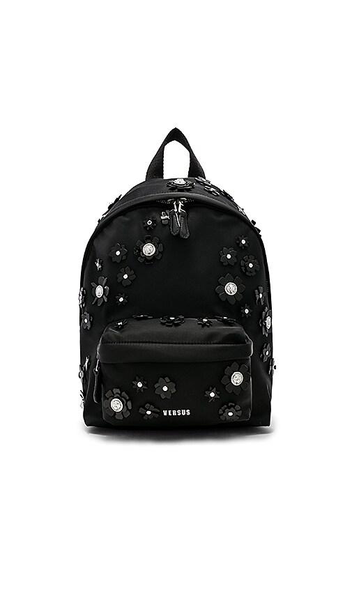 Versus by Versace Embellished Backpack in Black