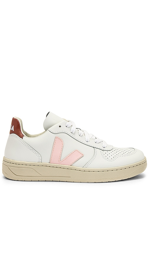 Veja V-10 Sneaker in White Petale Dried