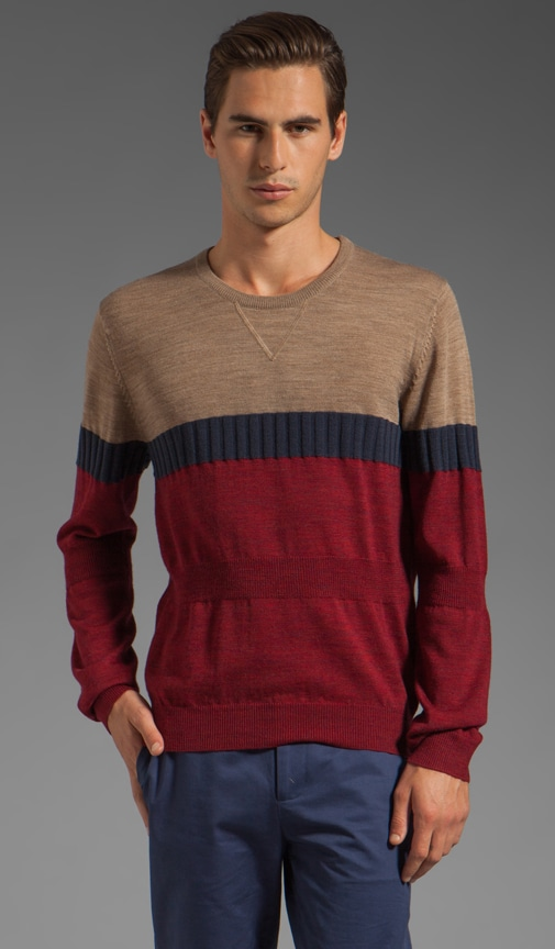 Wool Crew Neck Textured Knit