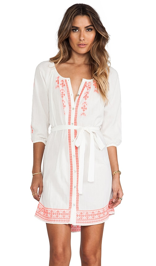 Farley Embroidered Crinkle Gauze Dress
