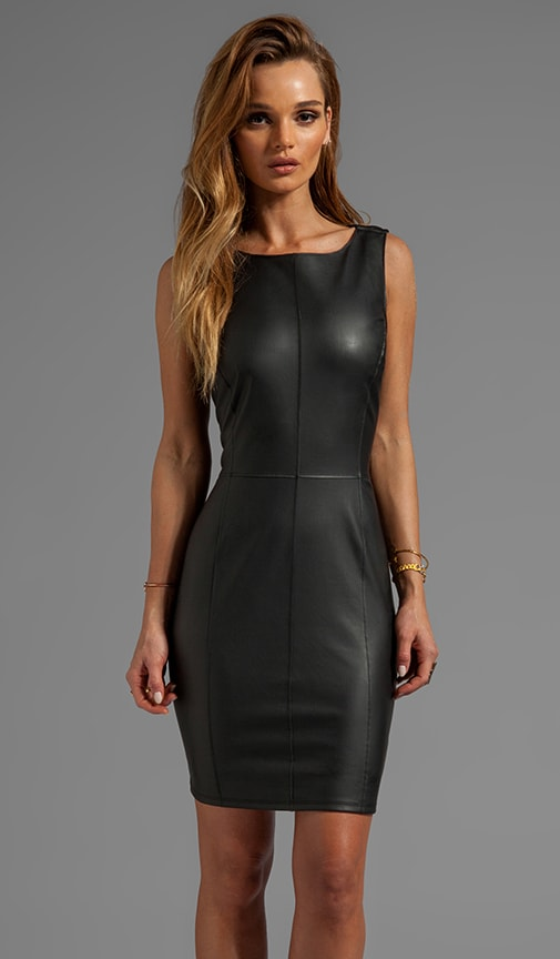 Marjory Ponti w/ Faux Leather Dress