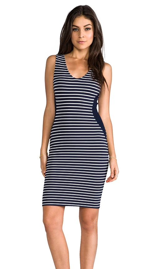 Velvet Ponti Stripes Milly Dress