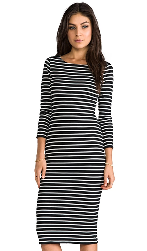 Velvet Ponti Stripes Pandora Dress