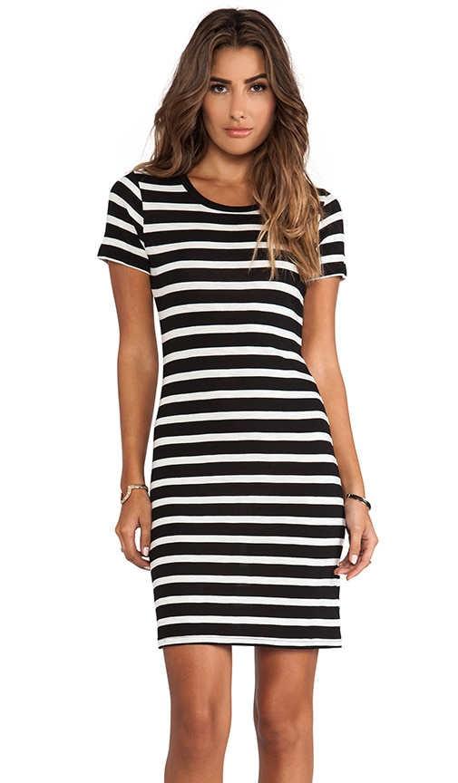 Lily Aldridge for Velvet Anna Slub Stripe Dress