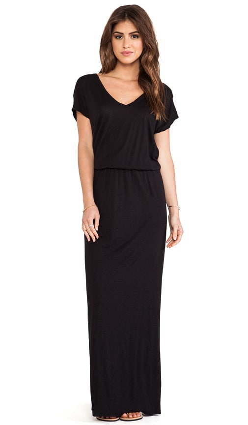 Lizia Luxe Slub Maxi Dress