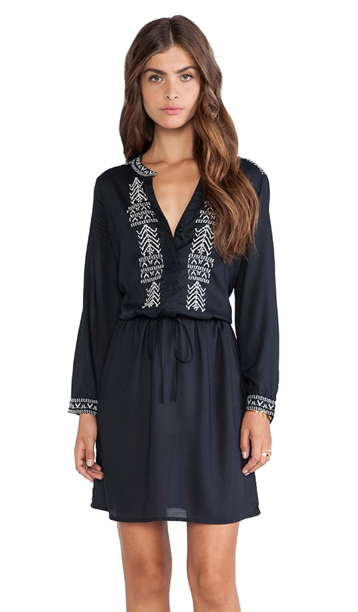 Inas Embroidered Rayon Challis Dress