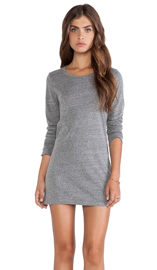 Thea Heather Grey Knit Dress Long Sleeve Dress in Heather Grey