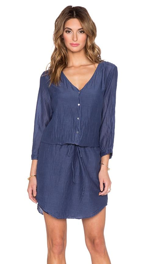 Velvet by Graham & Spencer Abber Silk Cotton Voile Dress in Neptune