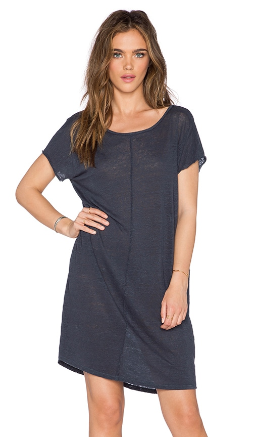 Velvet by Graham & Spencer Kezia Linen Knit Dress in Carbon