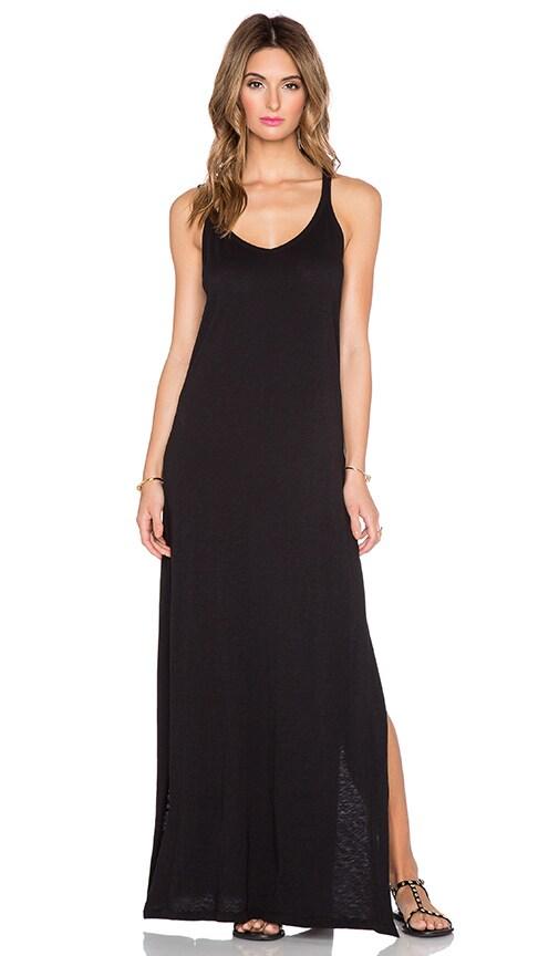 Velvet by Graham & Spencer Guenevere Cotton Slub Dress in Black