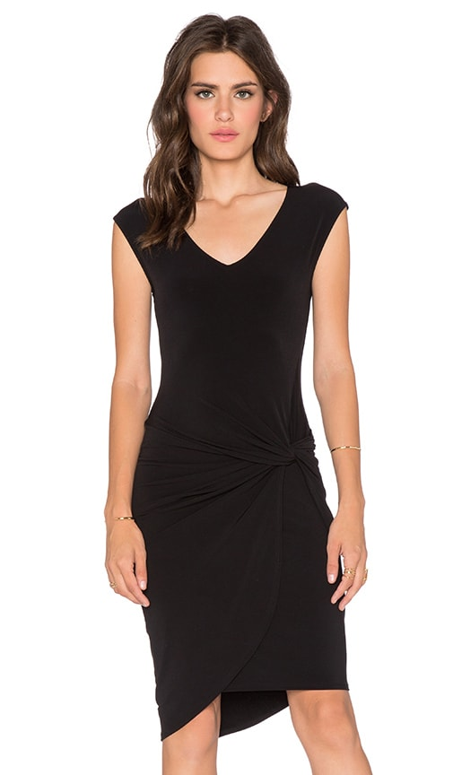 Velvet by Graham & Spencer Lake Stretch Jersey Dress in Black