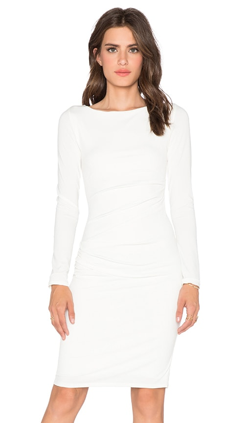 Velvet by Graham & Spencer Yesenia Stretch Jersey Dress in Milk