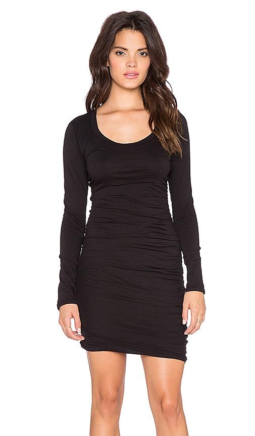 Velvet by Graham & Spencer Atarah Gauzy Whisper Dress in Black