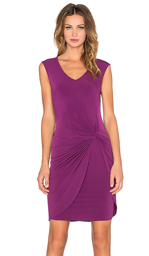 Velvet by Graham & Spencer Lake Stretch Jersey Dress in Wine