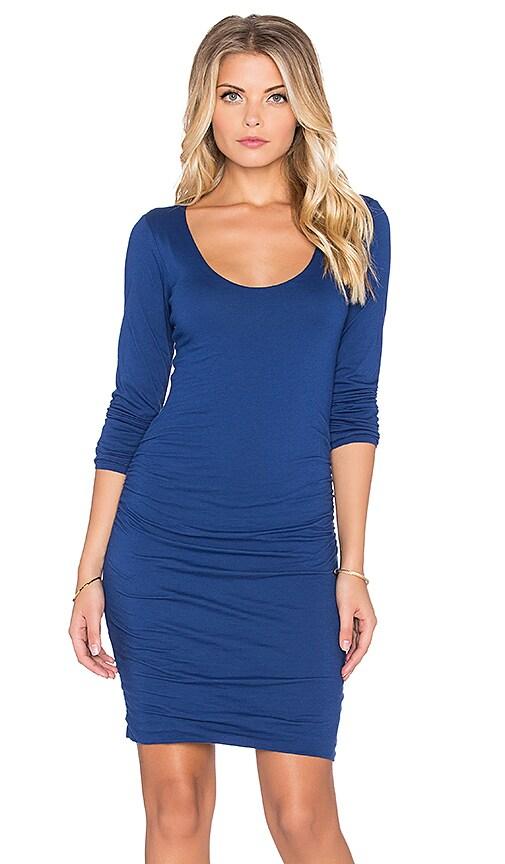 Velvet by Graham & Spencer Shayla Gauzy Whisper Long Sleeve Dress in Bluechip