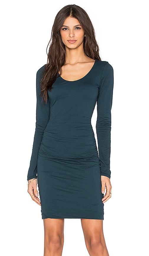 Velvet by Graham & Spencer Shayla Gauzy Whisper Long Sleeve Dress in Marina
