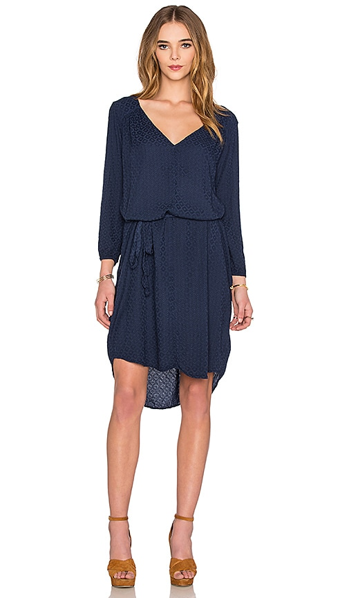 eb829800df Velvet by Graham   Spencer Floressa Damask Rayon Long Sleeve Dress ...