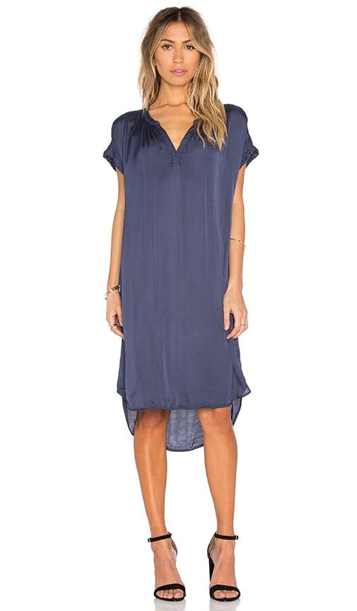 Velvet by Graham & Spencer Brie Satin Viscose T Shirt Dress in Century