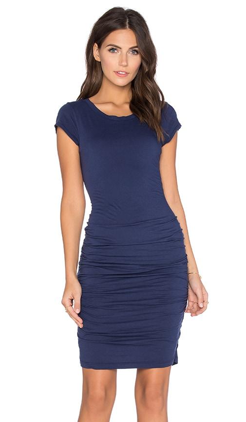 Velvet by Graham & Spencer Ciroc Gauzy Whisper Bodycon Dress in Azurite