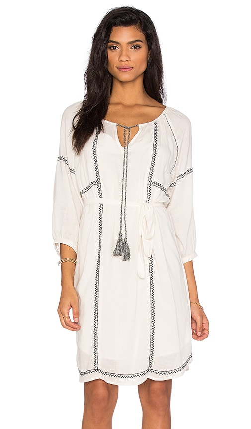 Cristal Embroidered Crepe Shift Dress