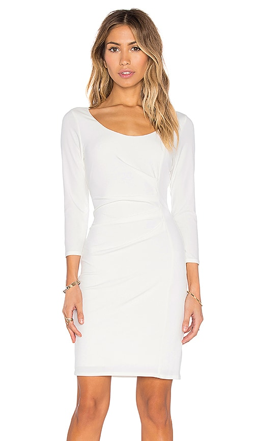 Velvet by Graham & Spencer Gini Stretch Jersey 3/4 Sleeve Dress in White