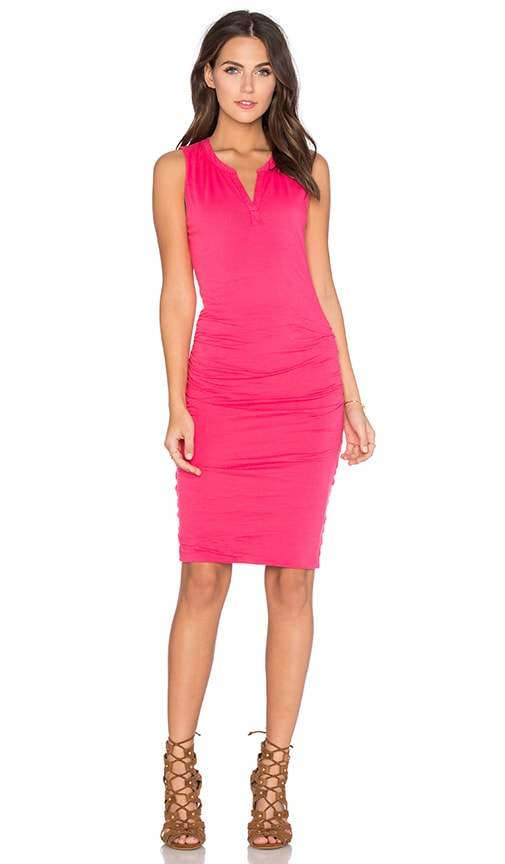 Velvet by Graham & Spencer Himira Gauzy Whisper Bodycon Dress in Pink