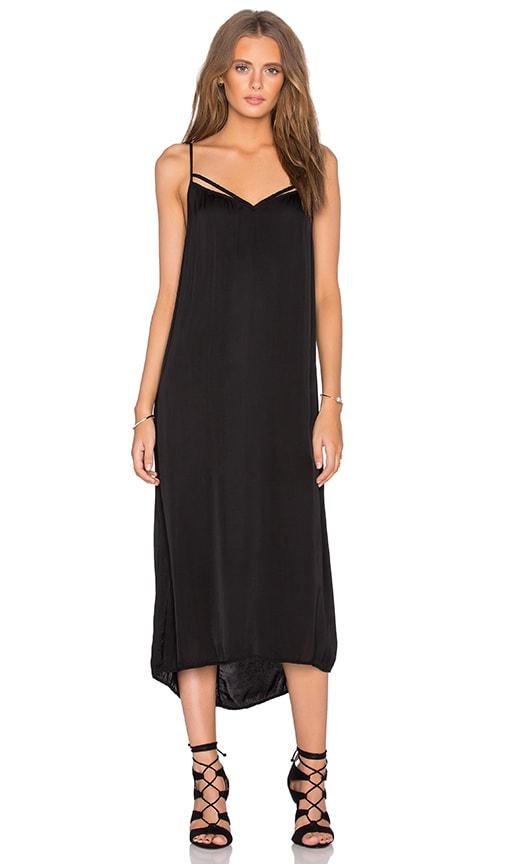 Velvet by Graham & Spencer Kambree Satin Viscose Dress in Black