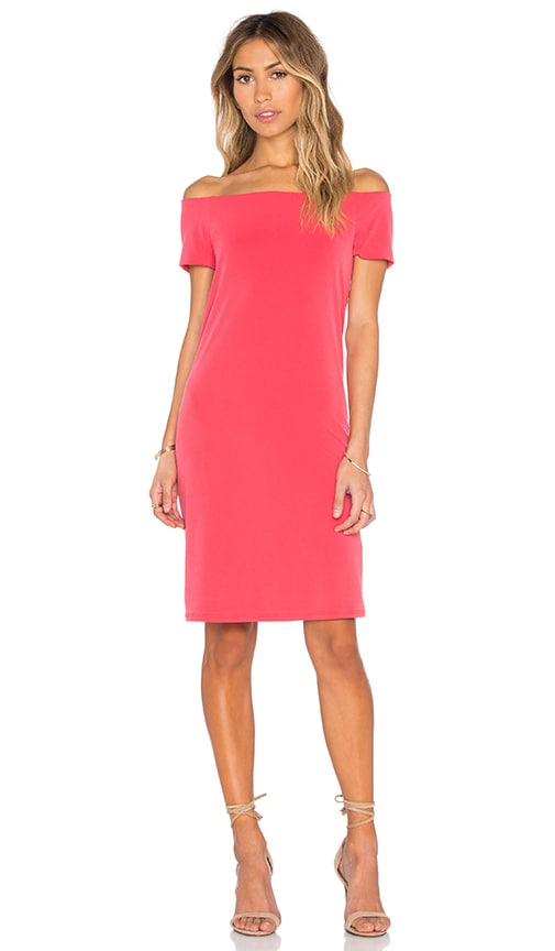 Velvet by Graham & Spencer Sorana Stretch Jersey Off The Shoulder Dress in Red