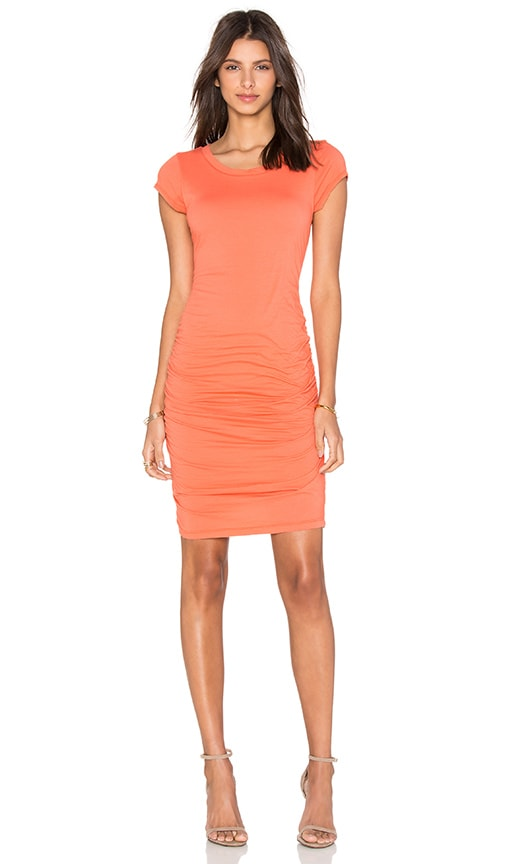 Velvet by Graham & Spencer Ciroc Gauzy Whisper Bodycon Dress in Orange