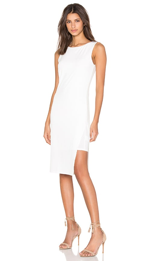 Velvet by Graham & Spencer Claudine Stretch Jersey Tank Dress in Cream